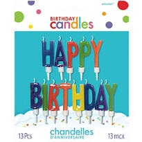 Happy Birthday Letter Birthday Candles 13ct
