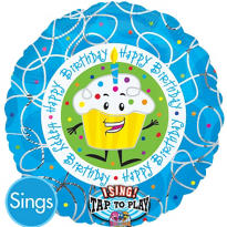 Happy Birthday Balloon - Singing Cupcake