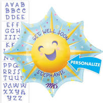 Get Well Balloon - Personalized Starburst