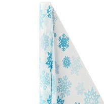 Snowflake Plastic Table Cover Roll