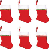 Christmas Stockings 5in 6ct