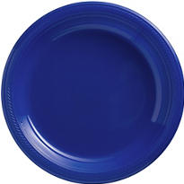 Royal Blue Plastic Dinner Plates 20ct