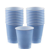 Pastel Blue Plastic Cups 20ct
