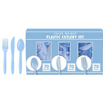 Pastel Blue Cutlery Set 210pc