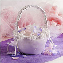 Scattered Pearl Wedding Flower Basket
