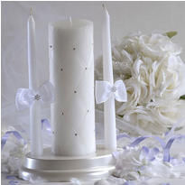 Graceful Wedding Unity Candle Set 3ct