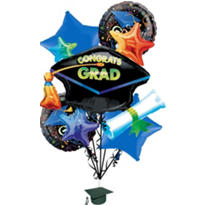 Foil Celebration Graduation Balloon Bouquet 5pc