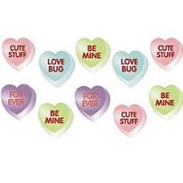 Conversation Heart Cutouts 10ct