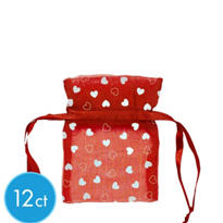 Red Organza Bags 3 1/2in 12ct