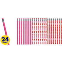 Valentines Day Pencil School Pack 24ct<span class=messagesale><br><b>20¢ per piece!</b></br></span>