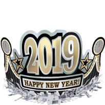 Happy New Year Foil Crown 5in
