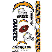 San Diego Chargers Tattoos 10ct