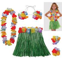 Child Hula Skirt Kit 5pc