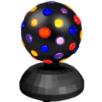 Disco Rainbow Globe Light