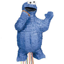 Pull String Cookie Monster Pinata 20in