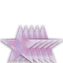 Iridescent Star Cutouts 9in 5ct