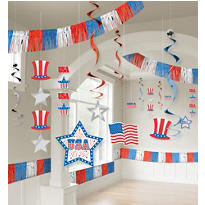Patriotic Room Decorating Kit 21pc