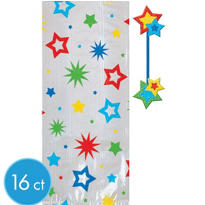 Star Favor Bags with Deluxe Star Ties 16ct