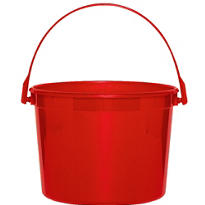 Red Plastic Bucket 6 1/4in