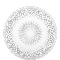 Clear Plastic Crystal Cut Platter 13in
