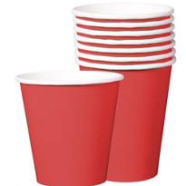 Value Red Paper Cups 8ct