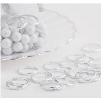 Silver Wedding Band Favor Charms