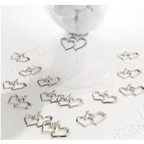 Heart Wedding Favor Charms 24ct