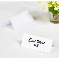 White Printable Place Cards 12ct