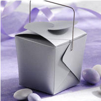 Silver Mini Wedding Favor Pails 12ct