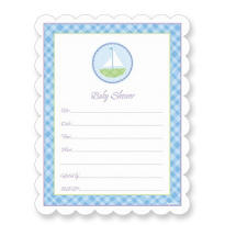 Sailboat Baby Shower Invitations 20ct
