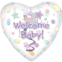 Foil Welcome Baby Shower Balloon 32in