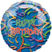 Happy Birthday Balloon - Celebration Streamers
