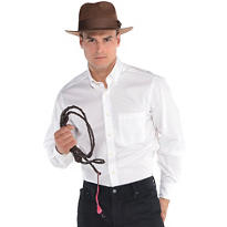 Adult Indiana Jones Hat and Whip Set