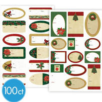 Traditional Adhesive Gift Tags 100ct