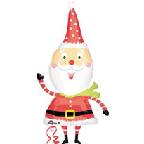 Foil Waving Santa Balloon 43in