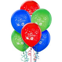 Latex Little Champs Birthday Balloons 12in 6ct