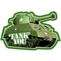 Camouflage Tank Thank You Notes 8ct