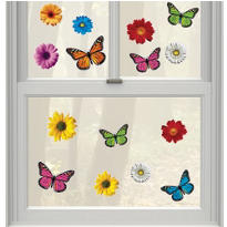 Vinyl Spring Window Decorations 15ct
