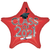 Red Class of 2015 Star Graduation Balloon