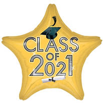 Star Class of 2015 Gold Graduation Balloon