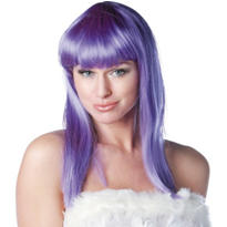 Eden Premium Shoulder-Length Purple Wig