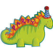 Dinosaur Jumbo Invitations 8ct