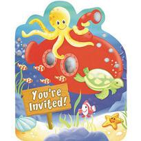 Deep Sea Fun Jumbo Invitations 8ct