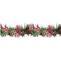 Mardi Gras Pine Needle Tinsel Garland 12ft