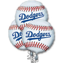 Los Angeles Dodgers Balloons 18in 3ct