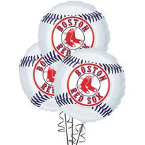 Boston Red Sox Balloons 18in 3ct