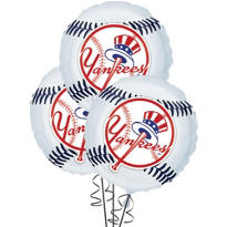 New York Yankees Balloons 18in 3ct
