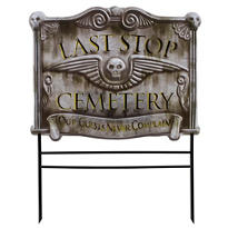Cemetery Yard Sign