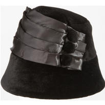 Black Velvet Flapper Hat