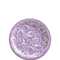 Lavender Ornamental Scroll Dessert Plates 8ct